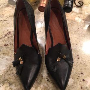"Women's black tassel heel 3"""